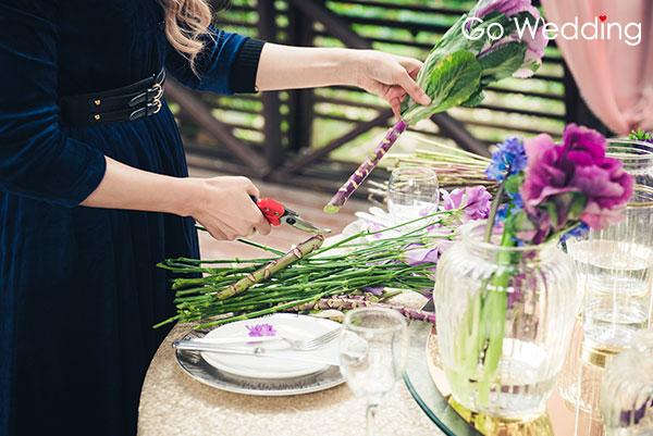 婚禮佈置DIY!10分鐘速成華麗主桌