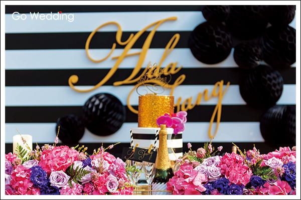 主題婚禮, 婚禮佈置, 女王, 黑金, 龐克, 奢華